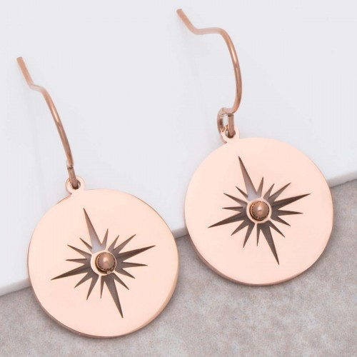 SIGNA Pink Gold pendant earrings pink...