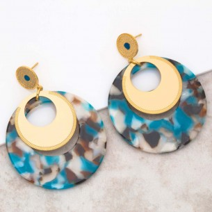 LOLA Blue Gold pendant...