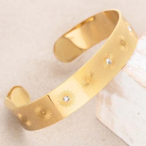 SOLSTICE Gold golden crystal cuff...