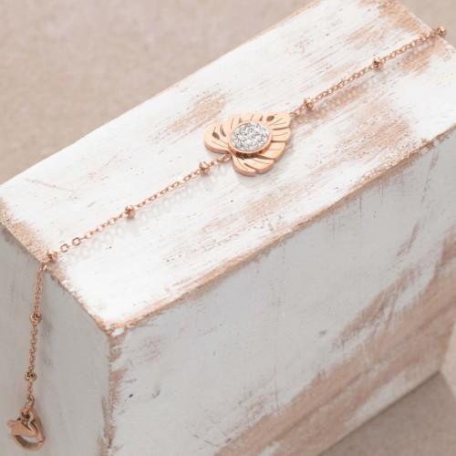 PALMAS Pink Gold thin steel bracelet...