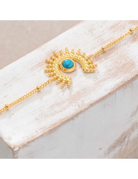 Bijoux bracelet fin SUNSTICE Turquoise Gold Menthe À l'O acier inoxydable doré solaire Bijoux Sauvages