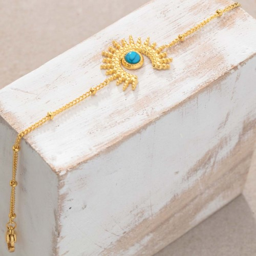 SUNSTICE Turquoise Gold thin golden...