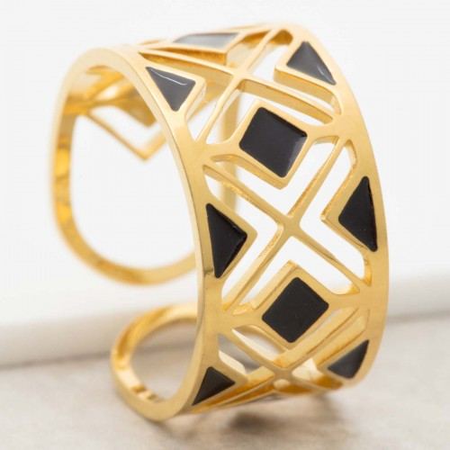 MODAMIA Black Gold minimalist...