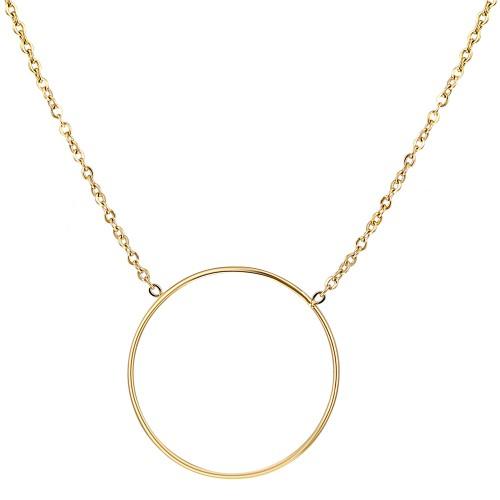 KATE Gold Silver collier court anneau...