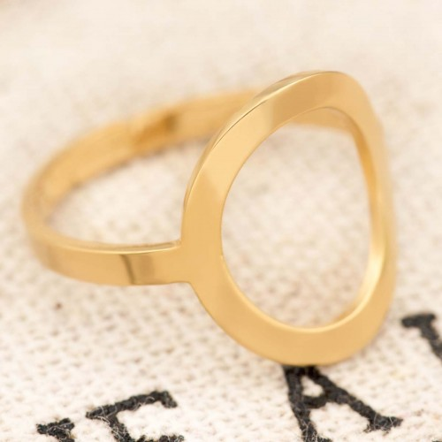 OLEA Gold adjustable bangle ring...