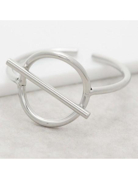 Bijoux bague jonc minimaliste JUPITER Silver Menthe À l'O  réglable acier inoxydable argent Bijoux Sauvages