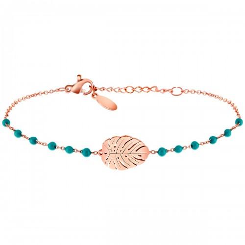 FOREST Pink Gold fine chain bracelet...