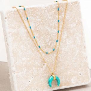 MOONTIS Blue Gold Necklace...