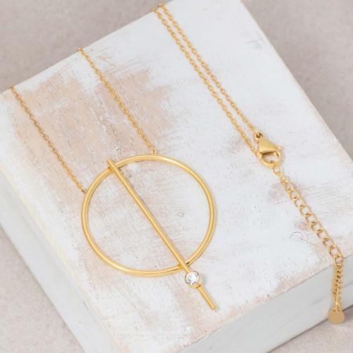 JUPITER Gold minimalist mid-length...