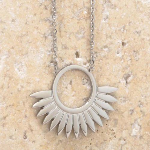 JANGO Silver short necklace solar...