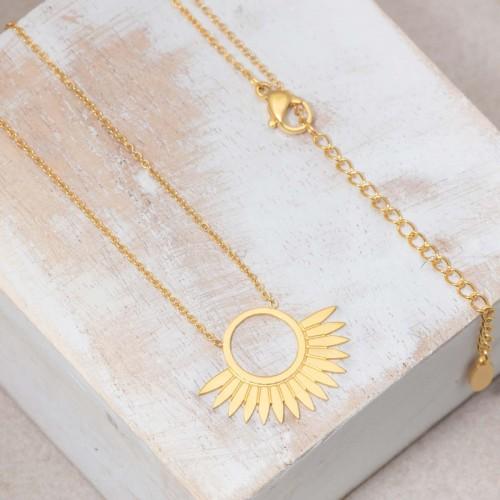 JANGO Gold short necklace solar...