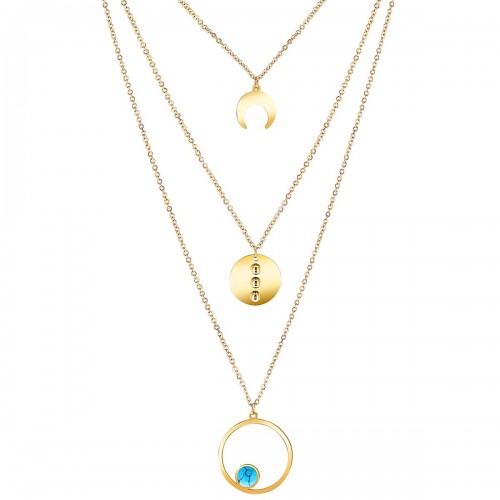 DYSQUAL Gold collier Multi-rangs...