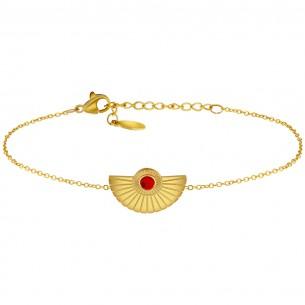 Bijoux bracelet LUNA Menthe À l'O fin  acier inoxydable doré argent Perle turquoise Bijoux Sauvages