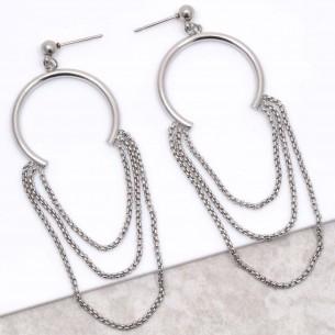CAROLINA Silver hoop...