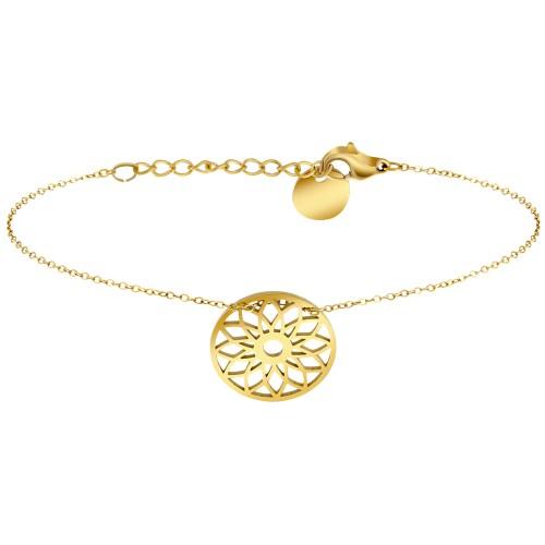 Bijoux bracelet ORLANE Menthe À l'O fin  acier inoxydable doré argent rosé Bijoux Sauvages