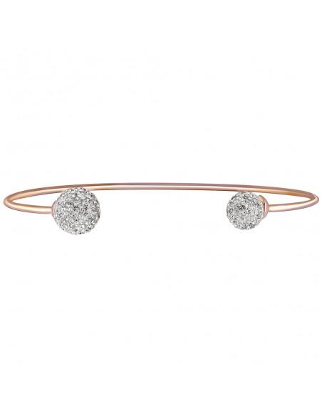 Bijoux bracelet manchette LISA Menthe À l'O fin  acier inoxydable doré argent rosé cristal Bijoux Sauvages