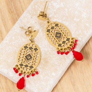 Earrings EVERGLADES Red...