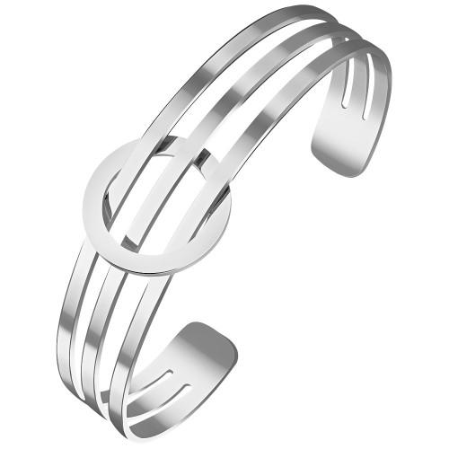Bijoux bracelet manchette DOLCE Menthe À l'O fin  acier inoxydable doré argent rosé Bijoux Sauvages