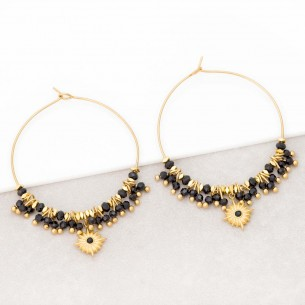 ESTELLO Black Gold earrings...