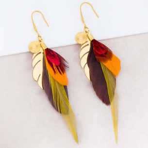 Earrings NATIVE Red Gold...
