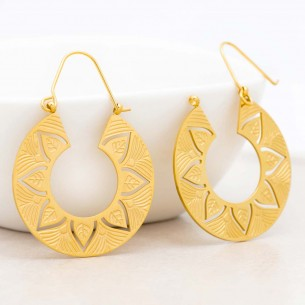 KORI Gold earrings Disc...