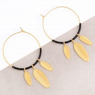 ELUNA Black Gold Earrings...