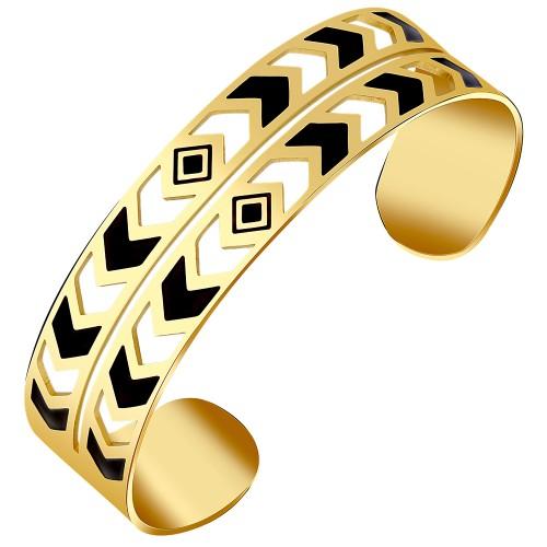 CAROL Black Silver Gold bracelet...