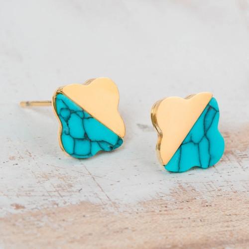 FLORESTINE Blue Gold Silver boucles...
