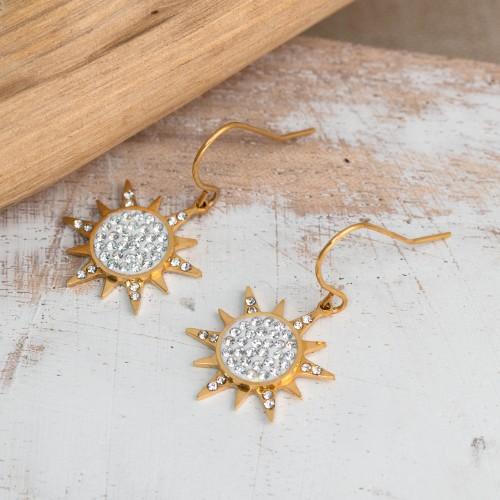 SUNNY Gold Silver earrings solar...
