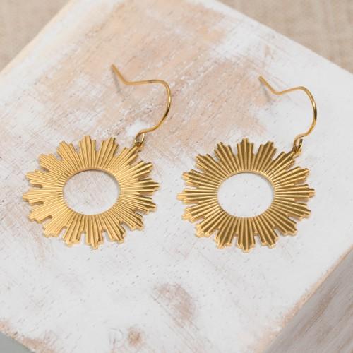Bijoux boucle d'oreille Menthe À l'O PRODYGE pendante courte acier inoxydable doré argent Bijoux Sauvages