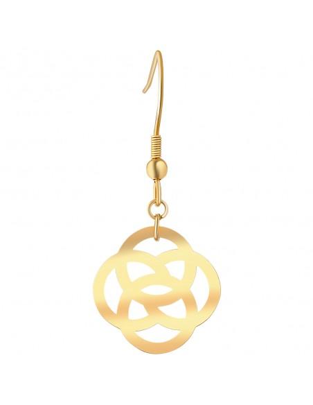Bijoux boucle d'oreille Menthe À l'O KAMEO pendante courte acier inoxydable doré argent Bijoux Sauvages