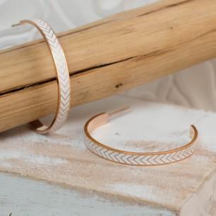 Bijoux boucle d'oreille Menthe À l'O LIAM créole acier inoxydable doré rosé multicolore noir blanc Bijoux Sauvages