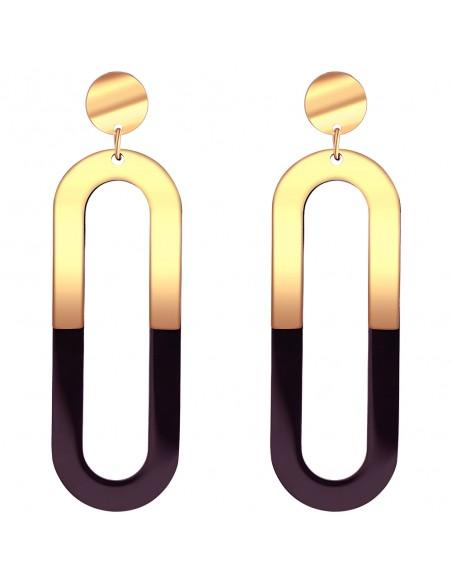 Bijoux boucle d'oreille Menthe À l'O KELY pendante acier inoxydable doré argent Bijoux Sauvages