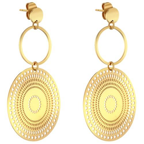 Bijoux boucle d'oreille Menthe À l'O JORDA pendante acier inoxydable doré argent Bijoux Sauvages