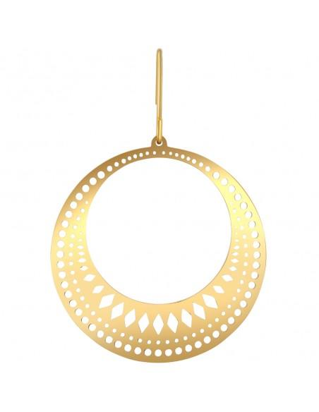 Bijoux boucle d'oreille Menthe À l'O TORN créole acier inoxydable doré argent Bijoux Sauvages