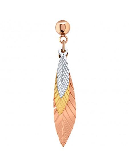 Bijoux feuille boucle d'oreille Menthe À l'O UMEO pendante courte acier inoxydable doré argent Bijoux Sauvages
