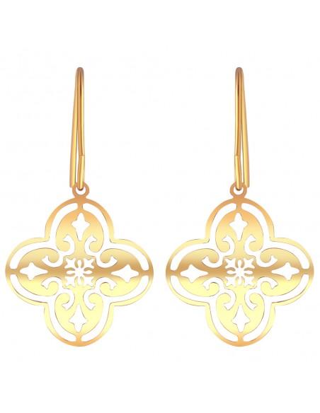 Bijoux boucle d'oreille Menthe À l'O RYEL courte acier inoxydable doré argent Bijoux Sauvages