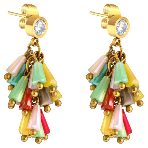 GLORIA Color gold boucles d'oreilles...