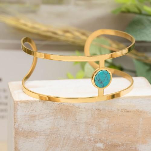 KORFU Blue Gold Silver bracelet...