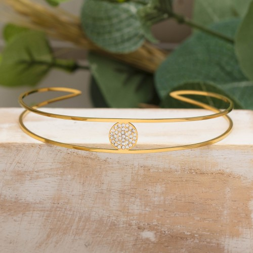 BOREAL Pink Gold Silver bracelet jonc...