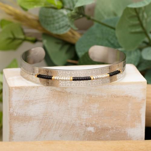 BYZANCE Silver bracelet manchette...