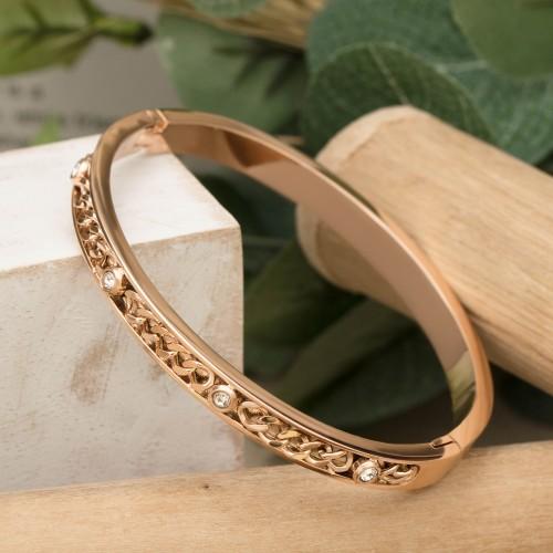 NINA Pink Gold Silver bangle bracelet...