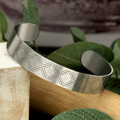ELIOS Gold Silver bracelet manchette...