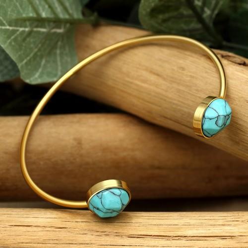 IMANY Blue Gold bracelet ethnique...