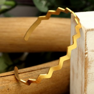 WAVE Gold Silver bangle...