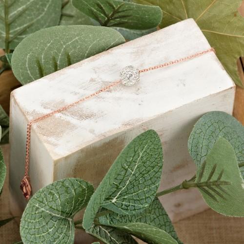 Bijoux bracelet JUNO Menthe À l'O fin  acier inoxydable rosé argent cristal Bijoux Sauvages