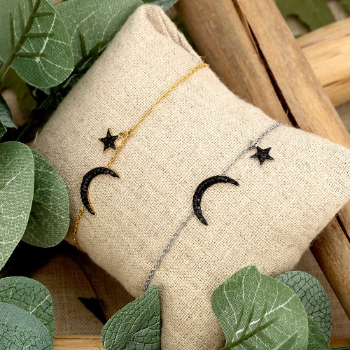 STARMOON Black Gold Silver bracelet...