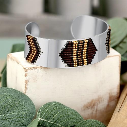 YAKAO Silver ethnic cuff bracelet...
