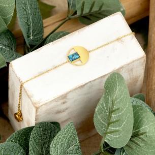 Bijoux bracelet DELY Menthe À l'O fin acier inoxydable doré Turquoise Bijoux Sauvages