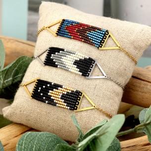 Bijoux bracelet COLUMBIA Menthe À l'O fin acier inoxydable doré argent Perles de rocailles Bijoux Sauvages